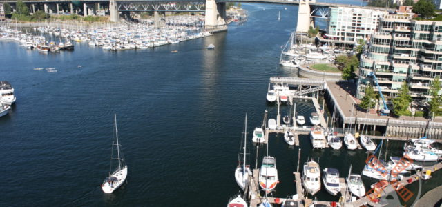 Vancouver aerial photography: Granville Island