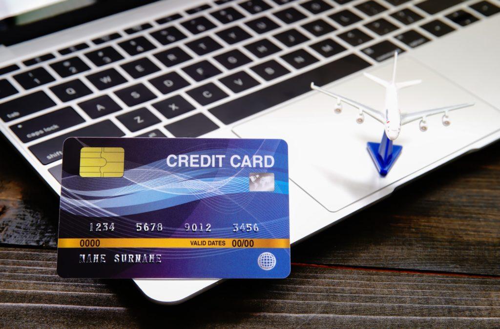 Credit card on a computer keyboard-2
